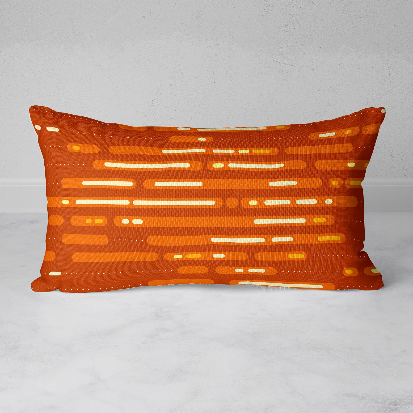 Image of Mid-Century Sunset Rectangular Throw Pillow