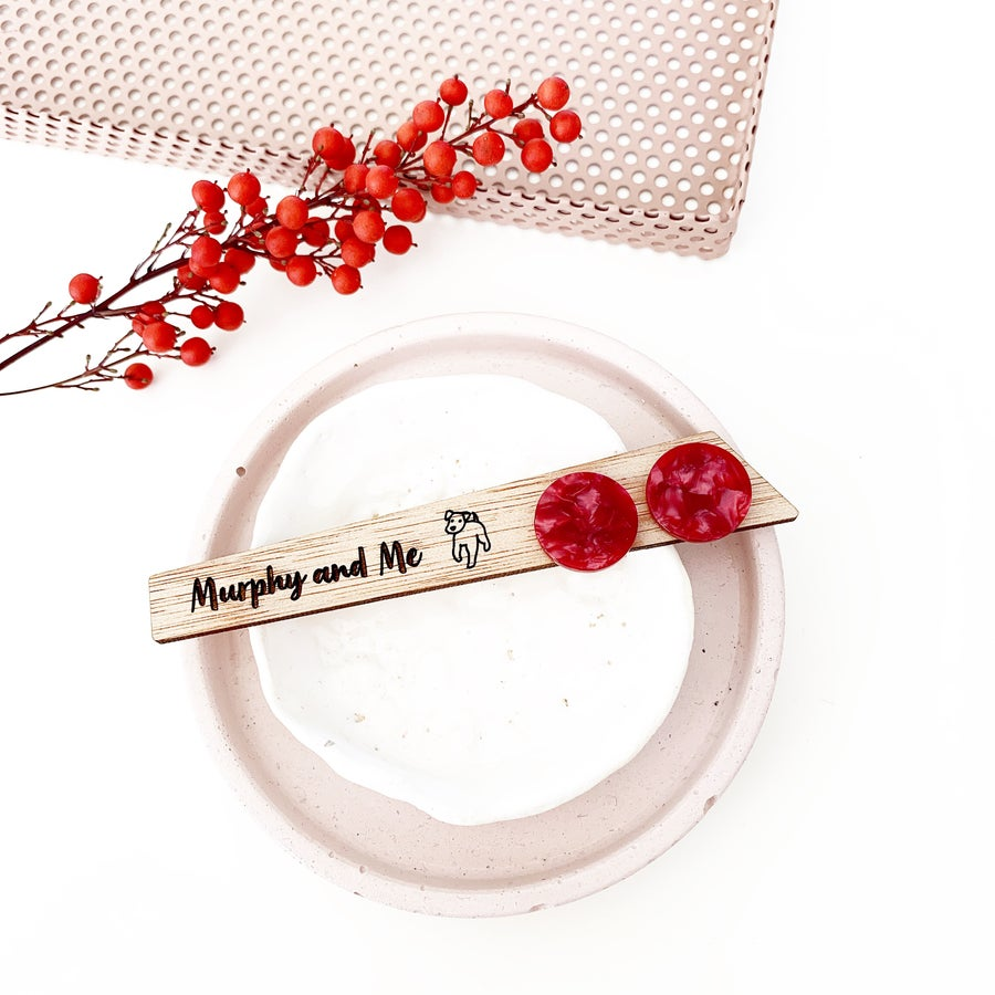 Image of  Rasberry Shell Studs