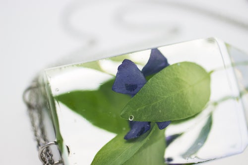 Image of Periwinkle (Vinca minor) - Chunky Statement Piece #2