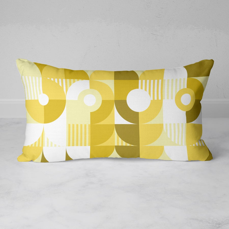 Image of Monochromatic Machine in Gold Rectangular Throw Pillow