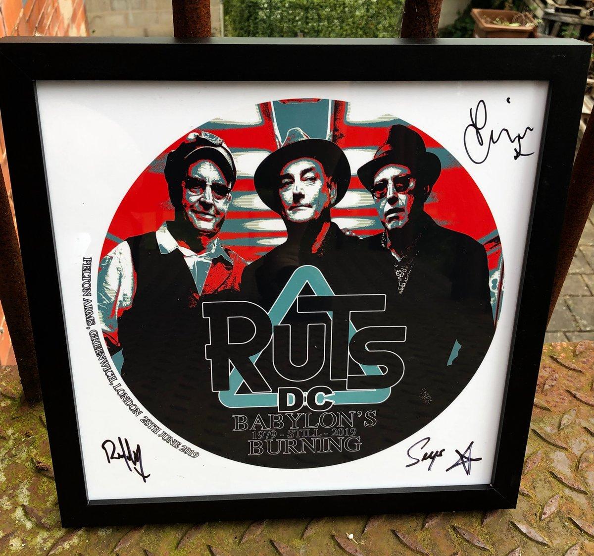 Image of RUTS DC Babylon's -still- Burning Acoustic Show Framed & Signed Art Print