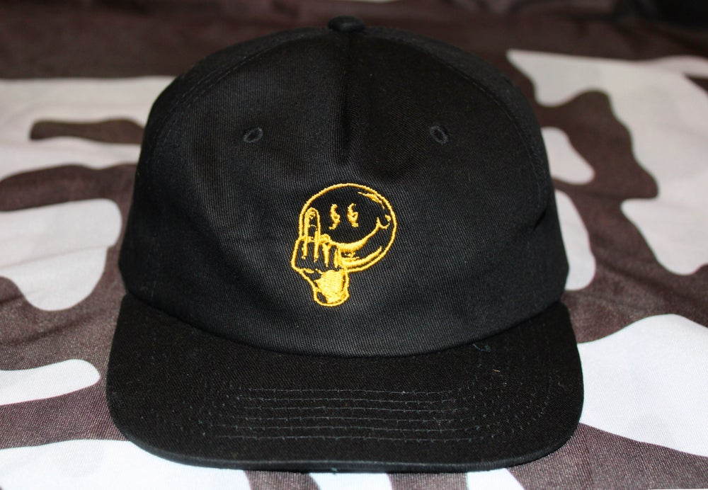 Image of ANYWAY EMBROIDERED HAT - BLACK