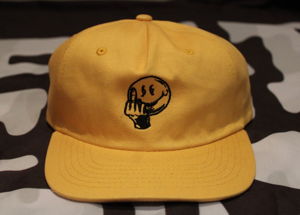 Image of ANYWAY EMBROIDERED HAT - YELLOW