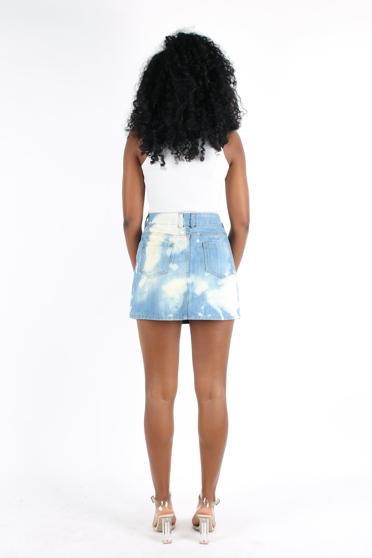 Image of 'Daydreaming' Bleached Mini Skirt