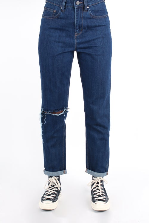 Image of 'Cuffed' Shredded Jeans