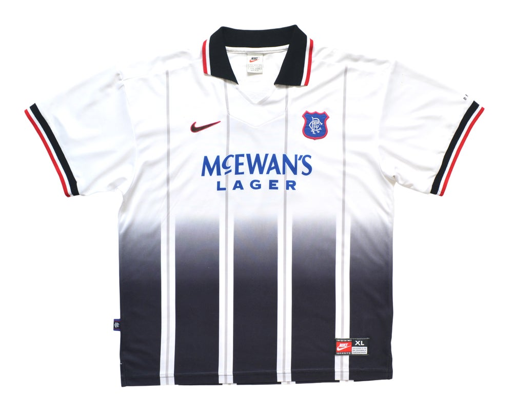 Image of 1997-99 Adidas Rangers Home Shirt 'Gascoigne 8' XL
