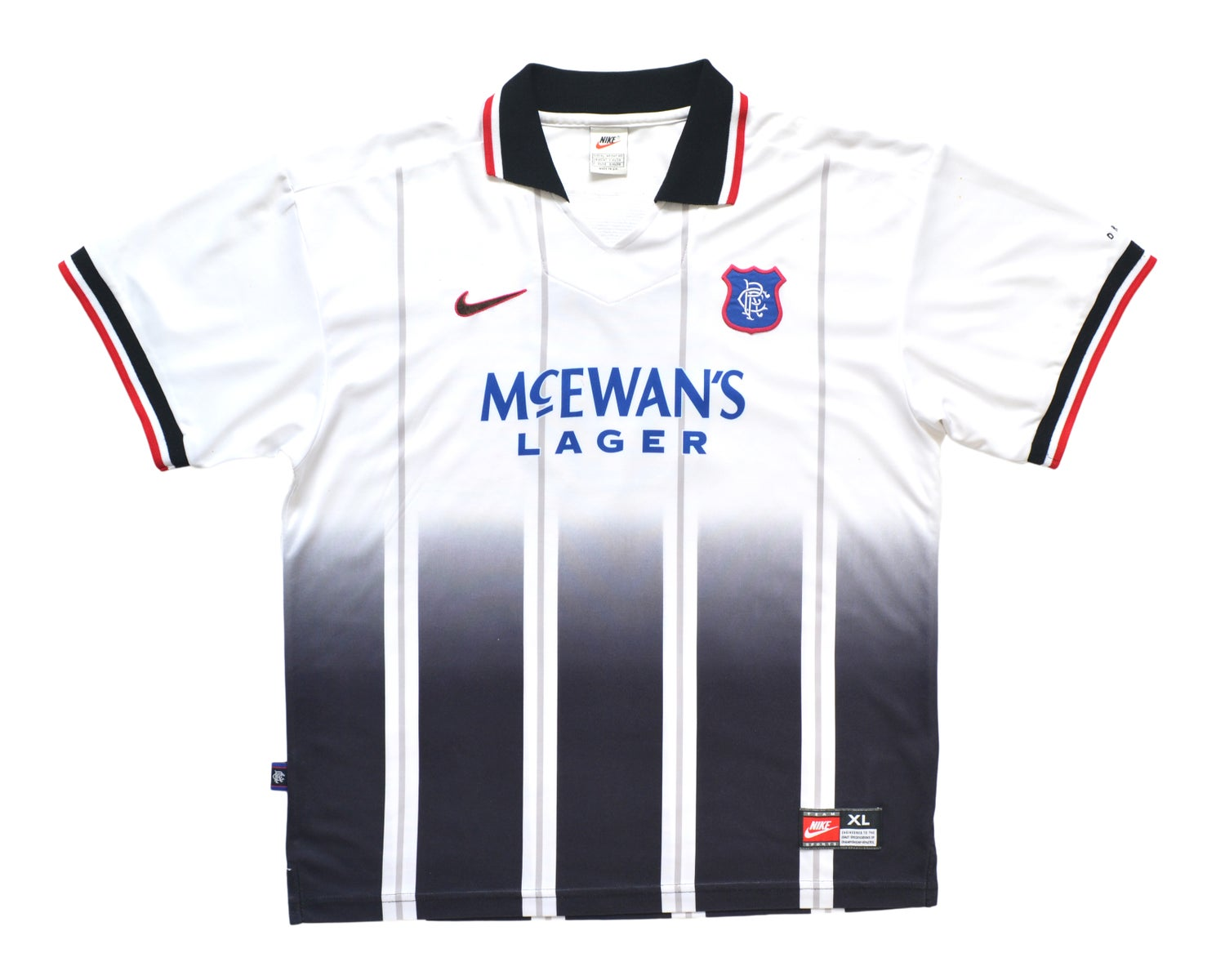 Image of 1997-99 Adidas Rangers Away Shirt 'Gascoigne 8' XL