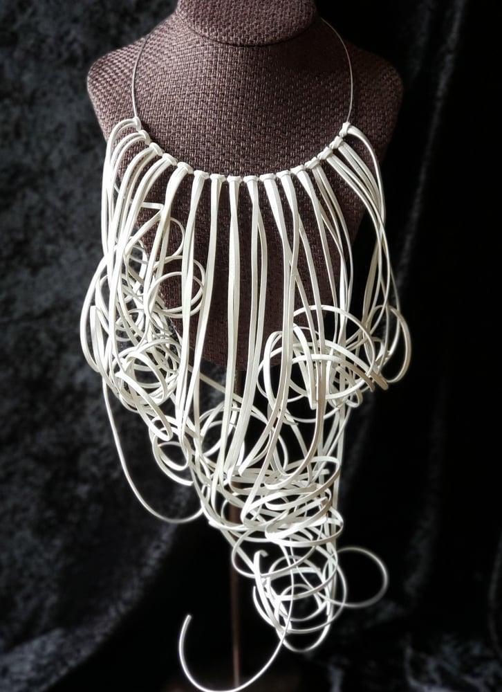 Image of White Lela Fringe Necklace