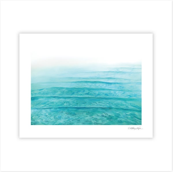 Image of Layers of Variations in Blue, Archival Paper Print
