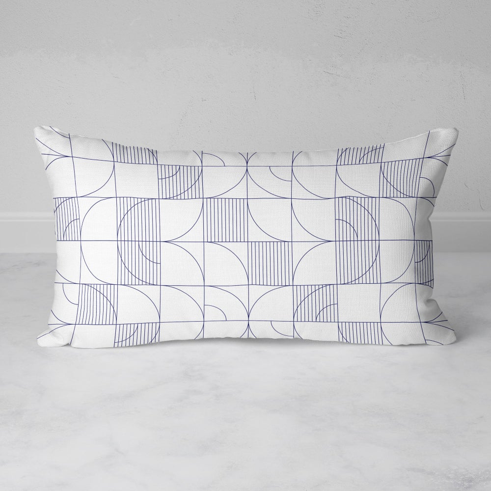 Image of Geometric Harvest Rectangular Throw Pillow