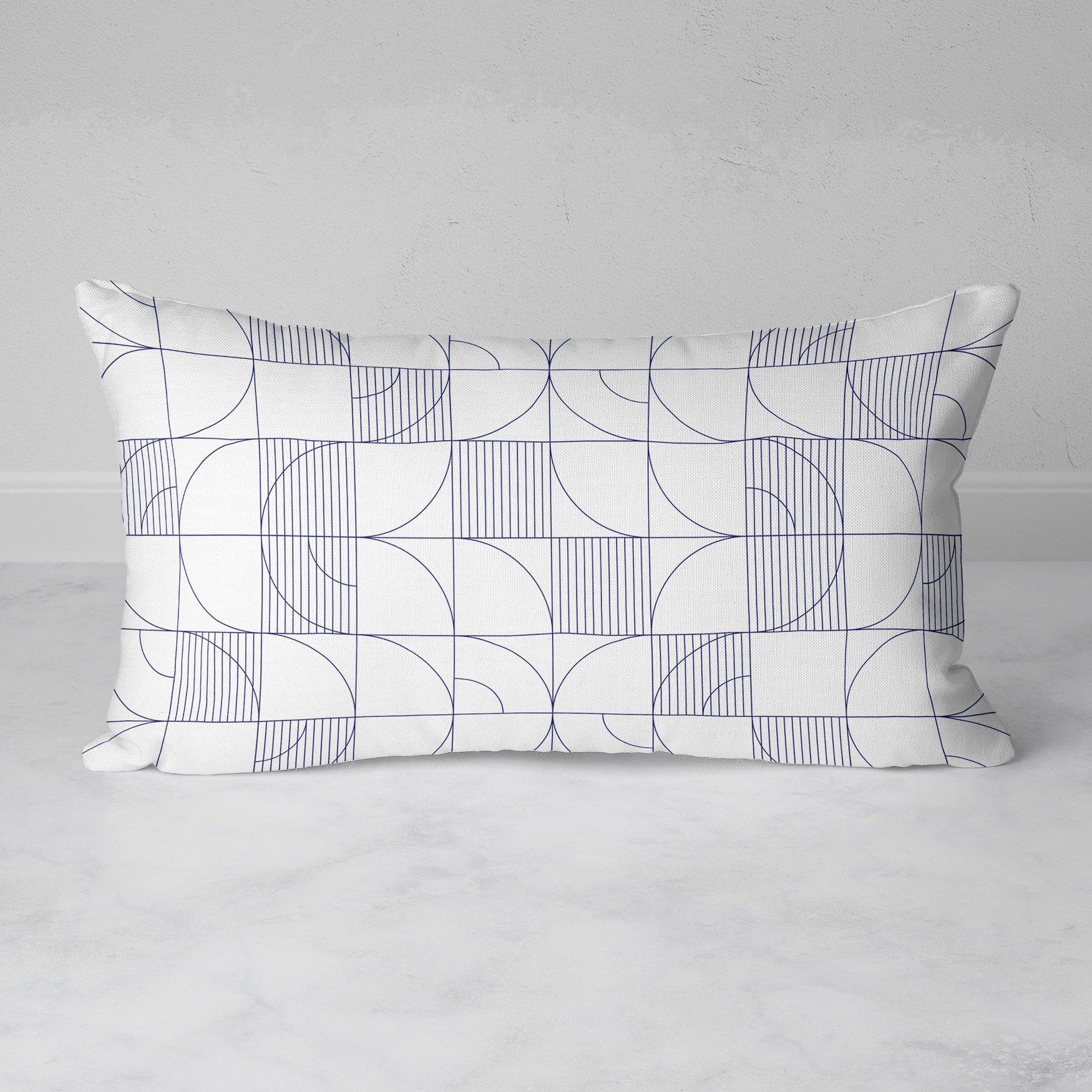 Image of Geometric Harvest Rectangular Throw Pillow