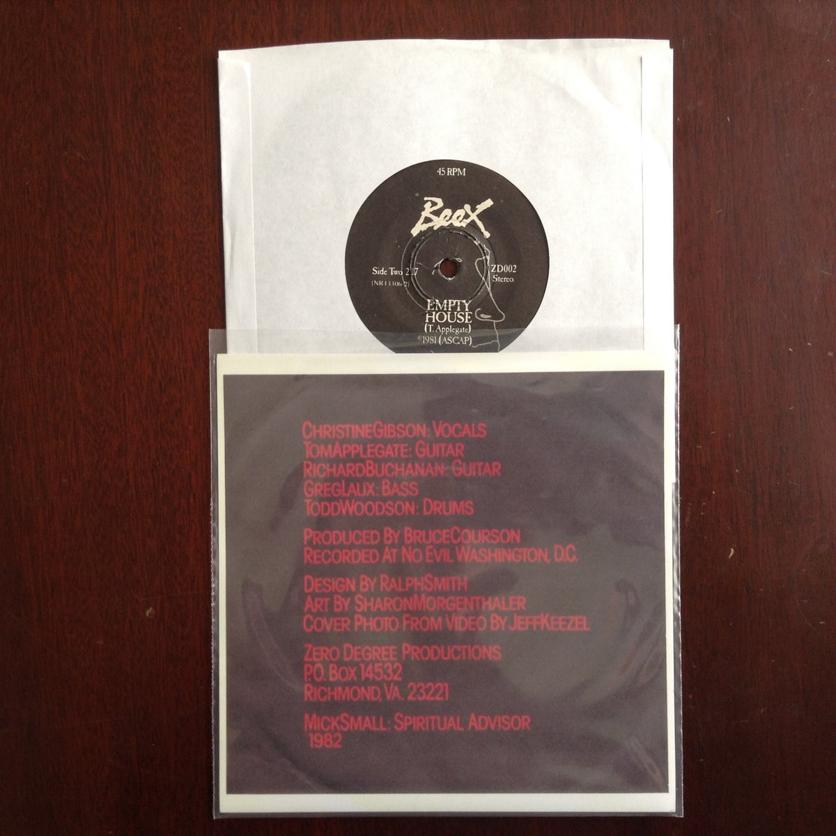 """Image of Butch/Empty House 7"""" 45 record 1981 (reprinted cover)"""