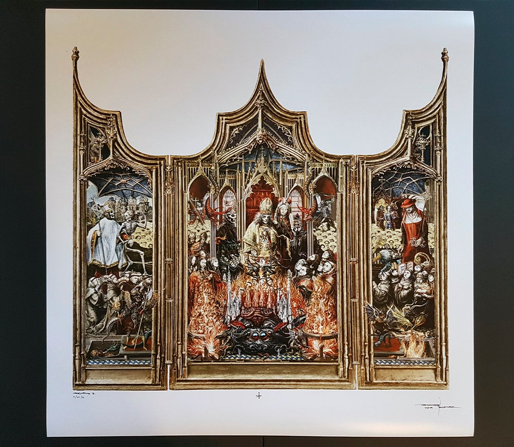 Image of GHOST PREQUELLE TRIPTYCH LIMITED ARTPRINT