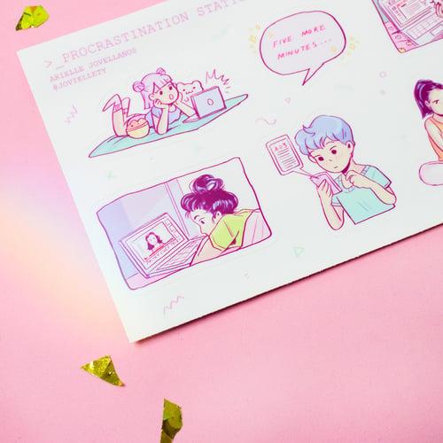 Image of Procrastination Station Sticker Sheet