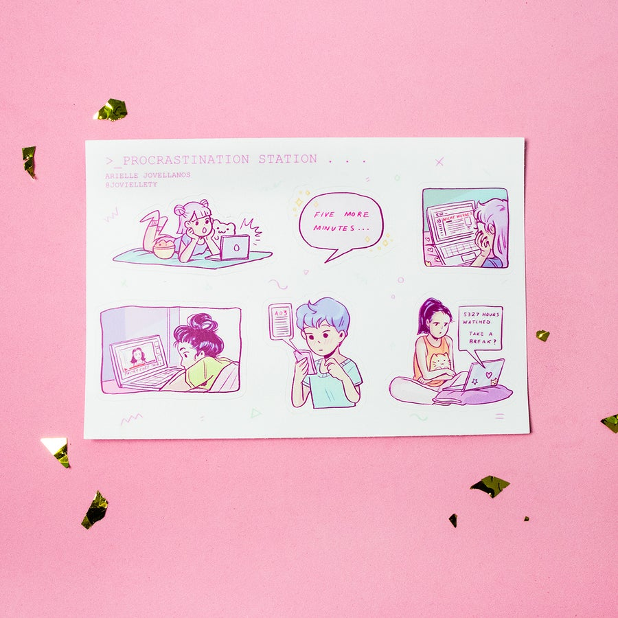 Image of Procrastination Station Sticker Sheet