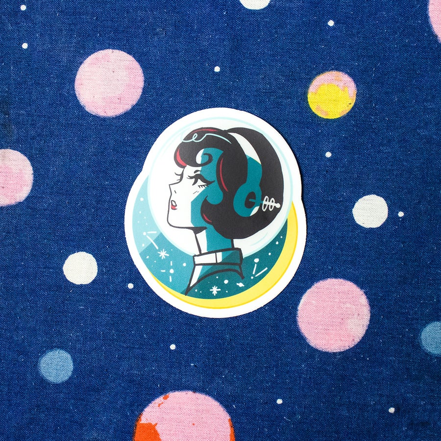 Image of Retro Space Profile Sticker