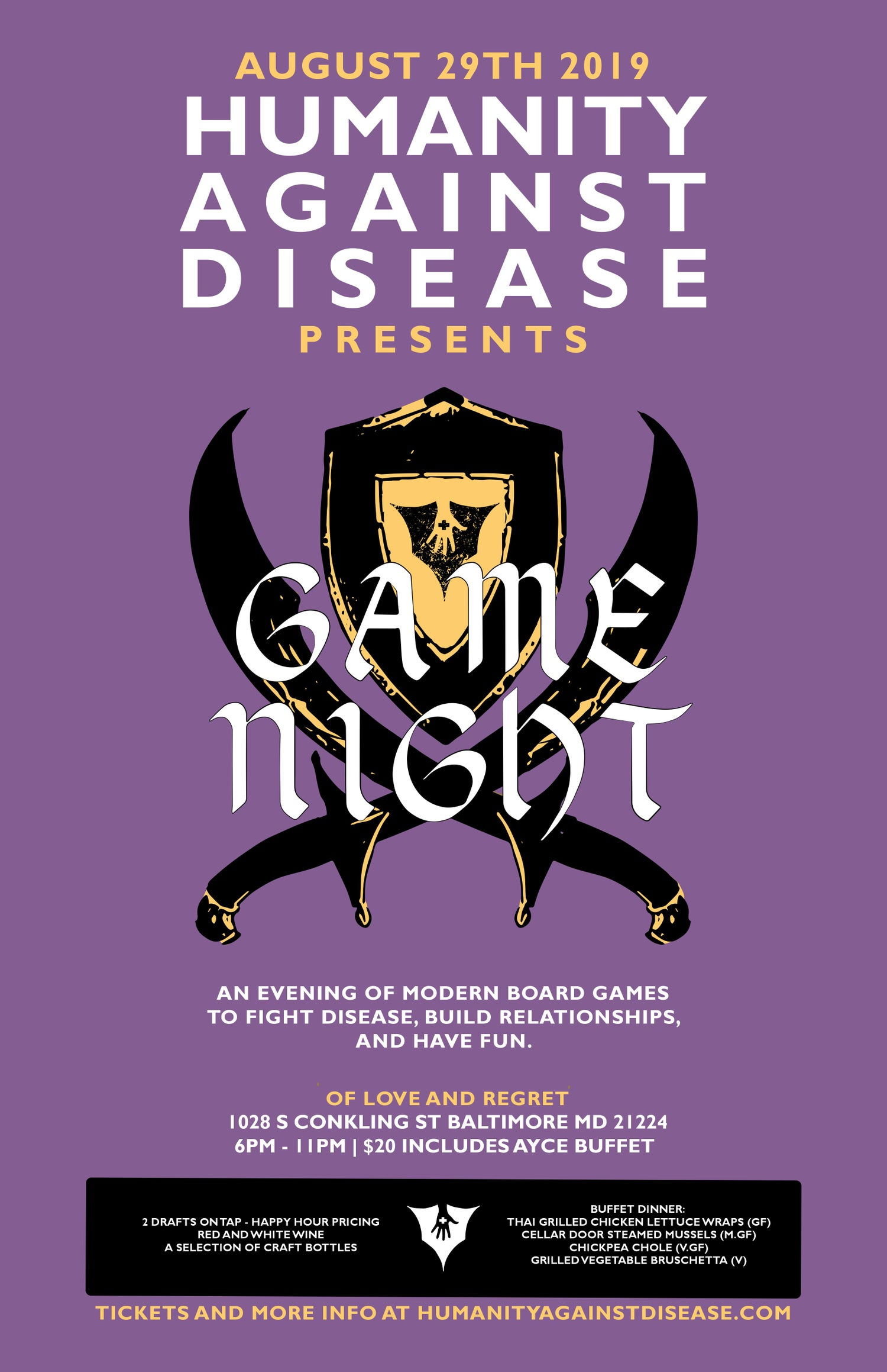 Image of Board Game Night Against Disease Ticket