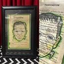 Image of Archival framed Original Ink Drawings on Novel Pages