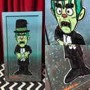 Image of MAD MONSTER PARTY original paintings on glass.