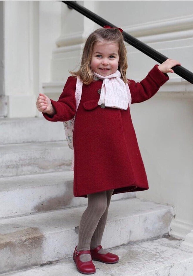 Image of Double-Breasted Girl's Wool Coat