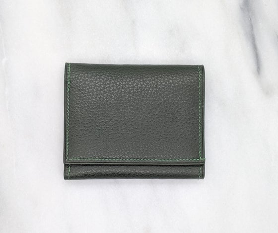 Image of TRIFOLD Wallet with ID Window – Green & Green