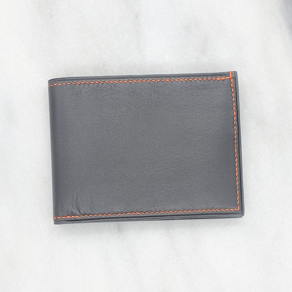 Image of BIFOLD Wallet – Light Grey & Grey & Orange
