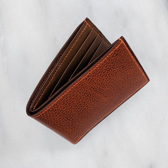 Image of BIFOLD Wallet – Whiskey & Brown & Orange
