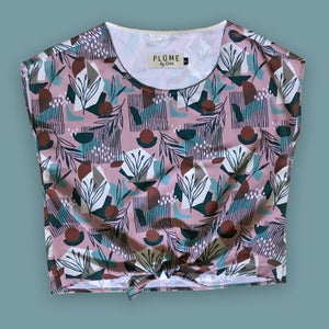 Image of Blouse - Lilac abstractions