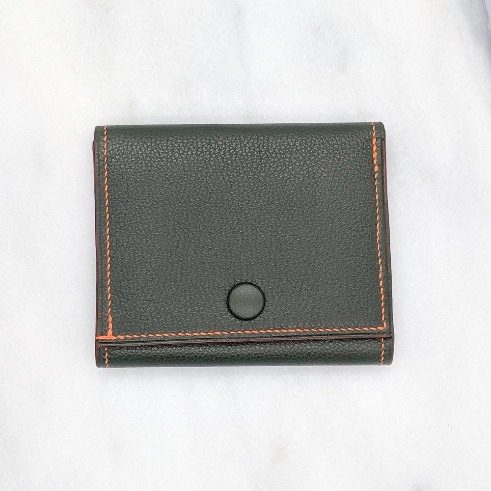 Image of  TRIFOLD Wallet with Snap – Green & Orange