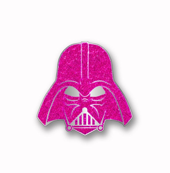 Image of Force For The Cure Dark Lord Glitter Pin