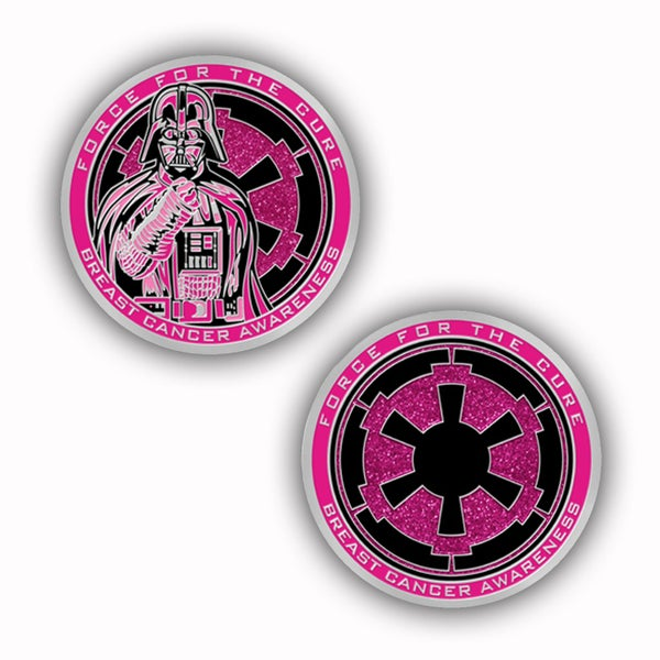 Image of Force For The Cure Dark Lord Challenge Coin