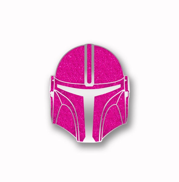 Image of Force For The Cure Mercenary Glitter Pin