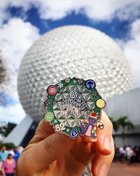 Image of Season's Greetings from the future  pin