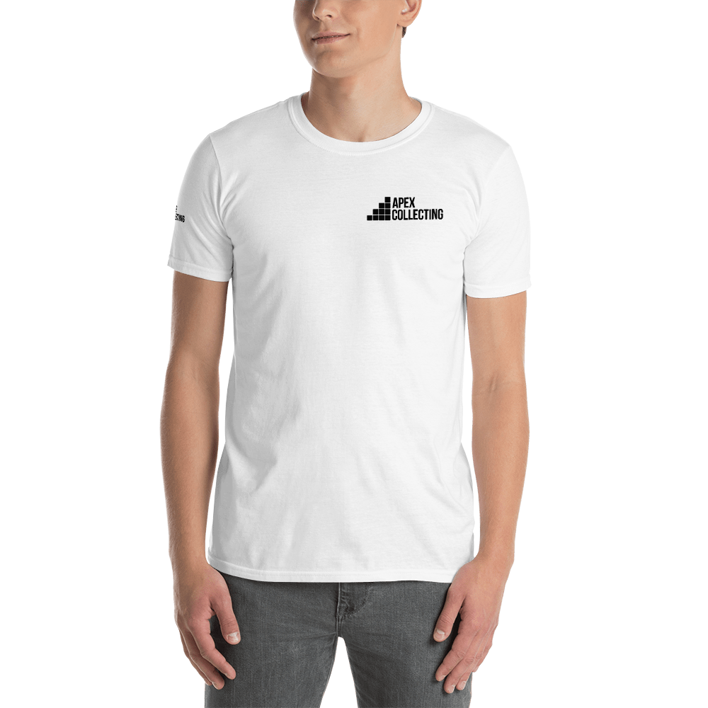 Image of Men's Apex Collecting Logo Cotton T-Shirt White/Black