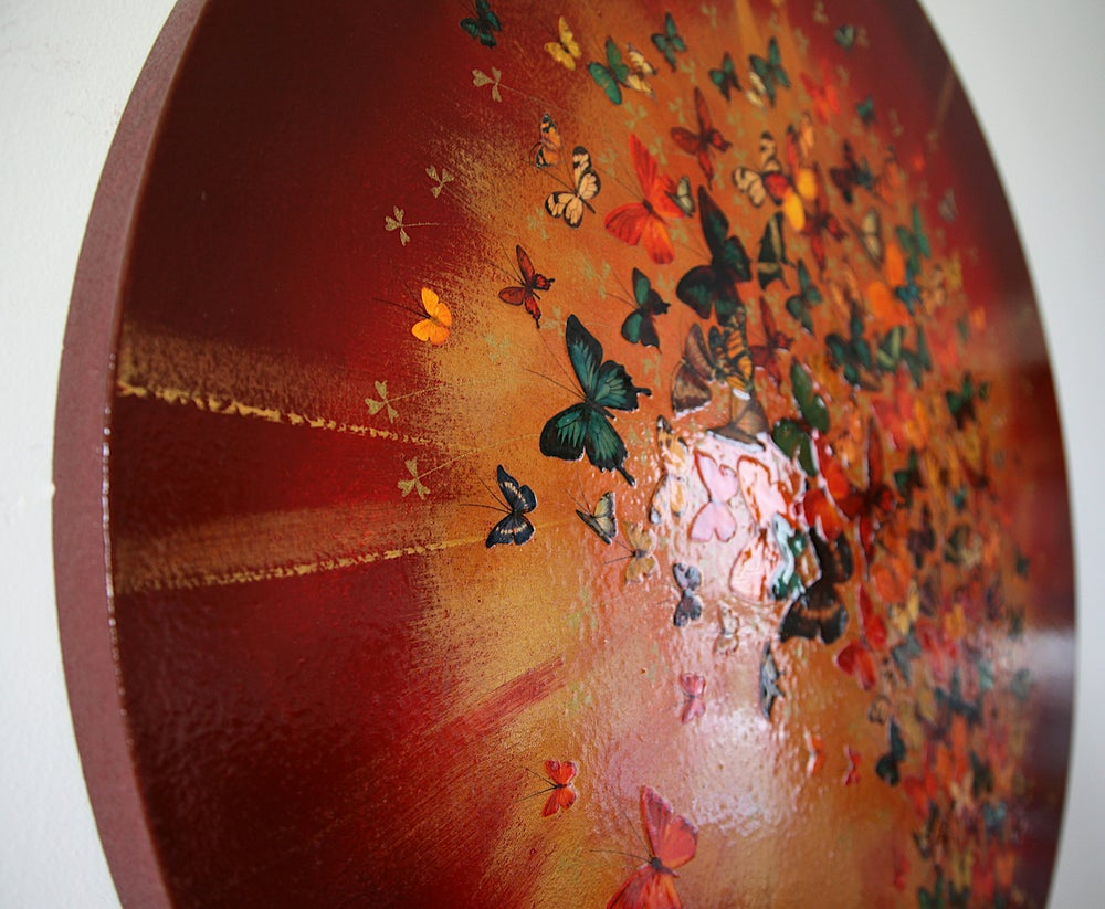 "Image of Original Canvas - Sunburst - 31.5"" diameter"