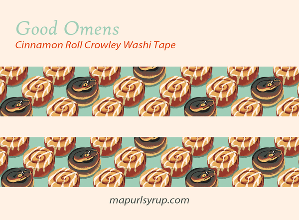 Image of Good Omens Cinnamon Roll Crowley Washi Tape