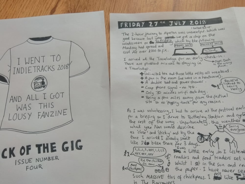 Image of Back Of The Gig #4 - Indietracks 2018