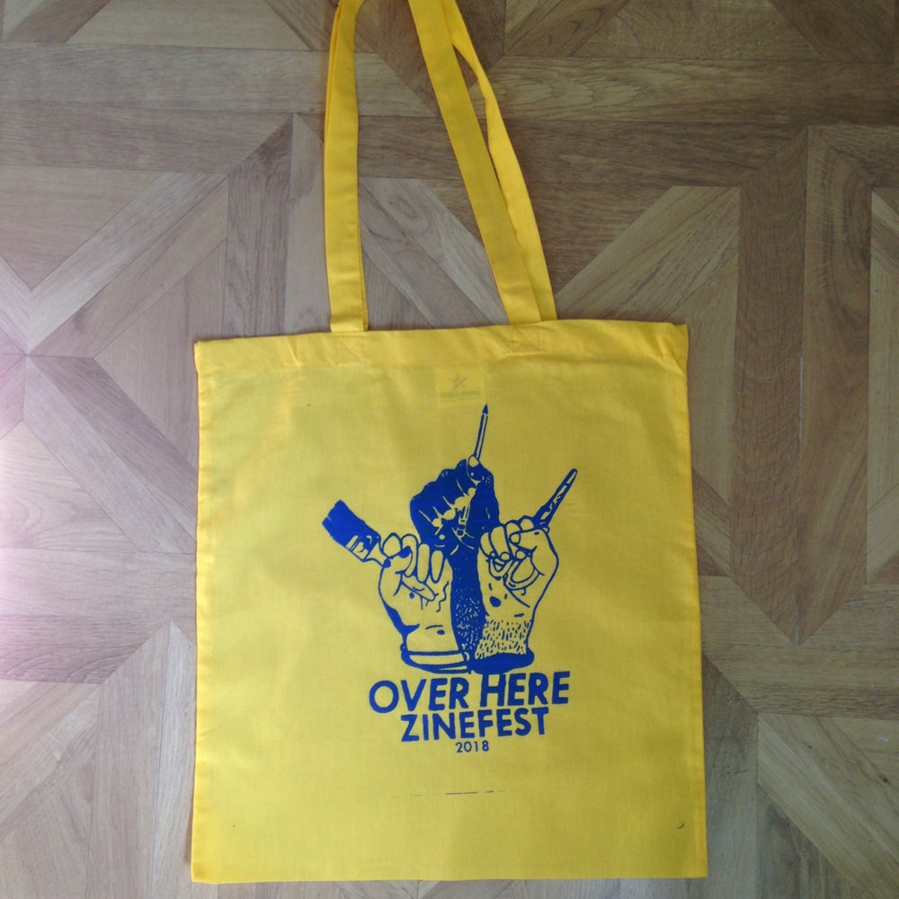 Image of Over Here tote bag