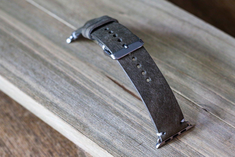 Image of Apple Watch Strap in Grey Badalassi Carlo Pueblo