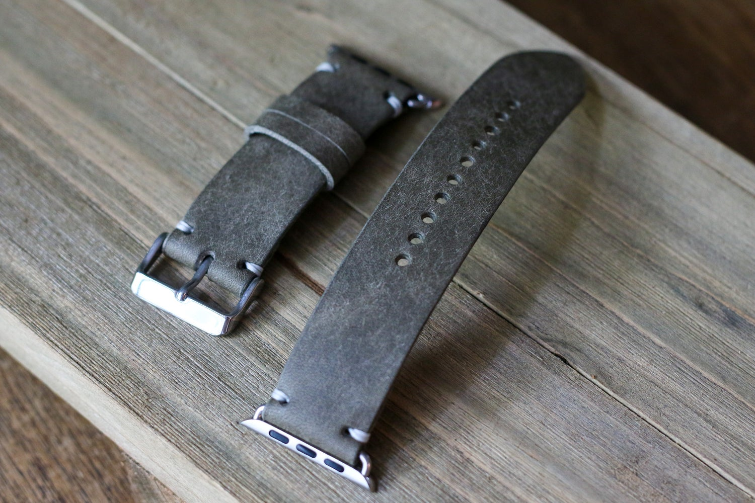 Image of Apple Watch Strap in Grey Badalassi Carlo Pueblo