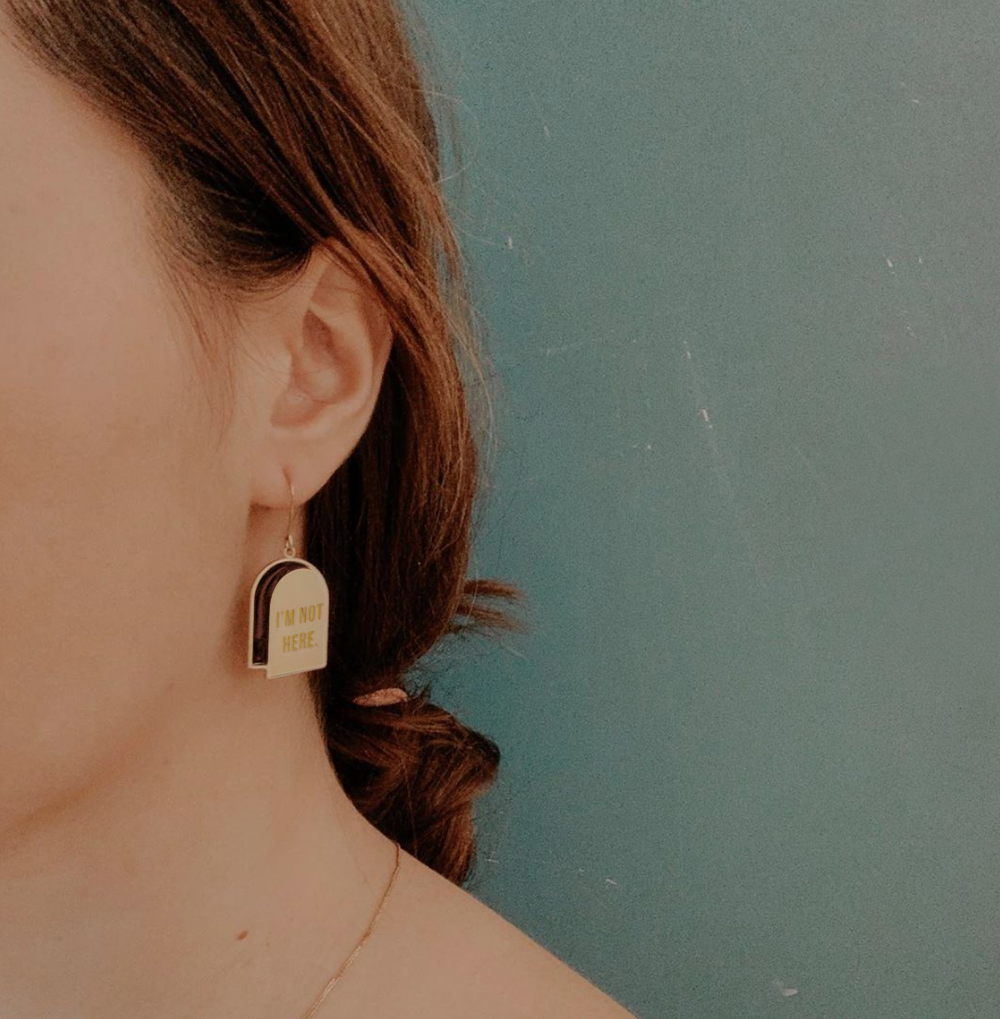 I'm not here / No one's home - Earrings • Stain Stainless steel