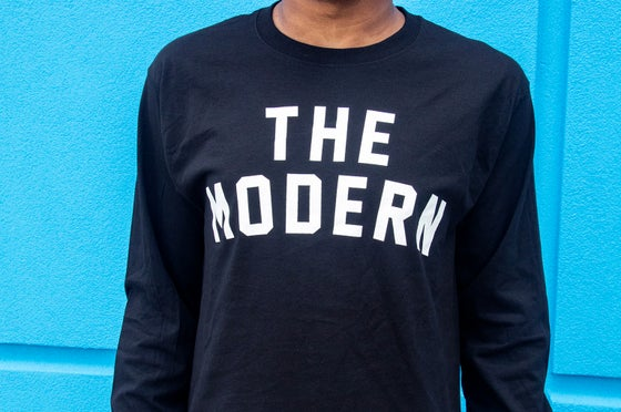 "Image of Black ""The Modern"" Champion Long Sleeve"