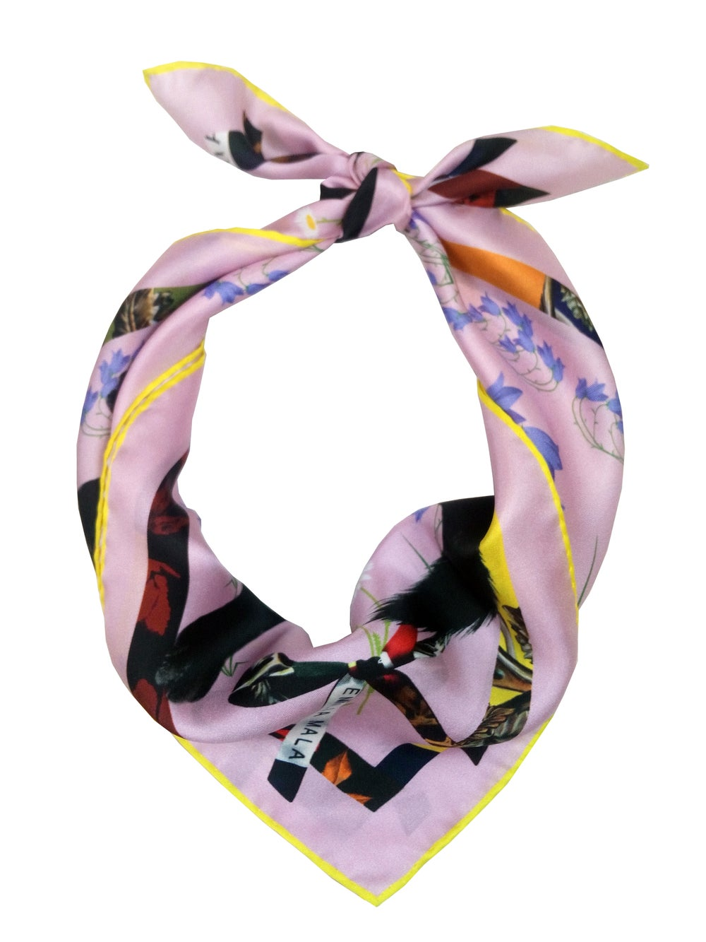 Image of CAT SAUVAGE / DUSK Silk Scarf