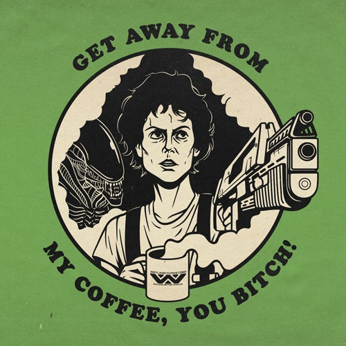 Image of GET AWAY FROM MY COFFEE PRINT