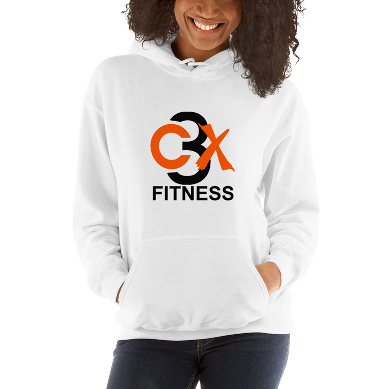 Image of C3X Fitness Hoodie (White) UNISEX