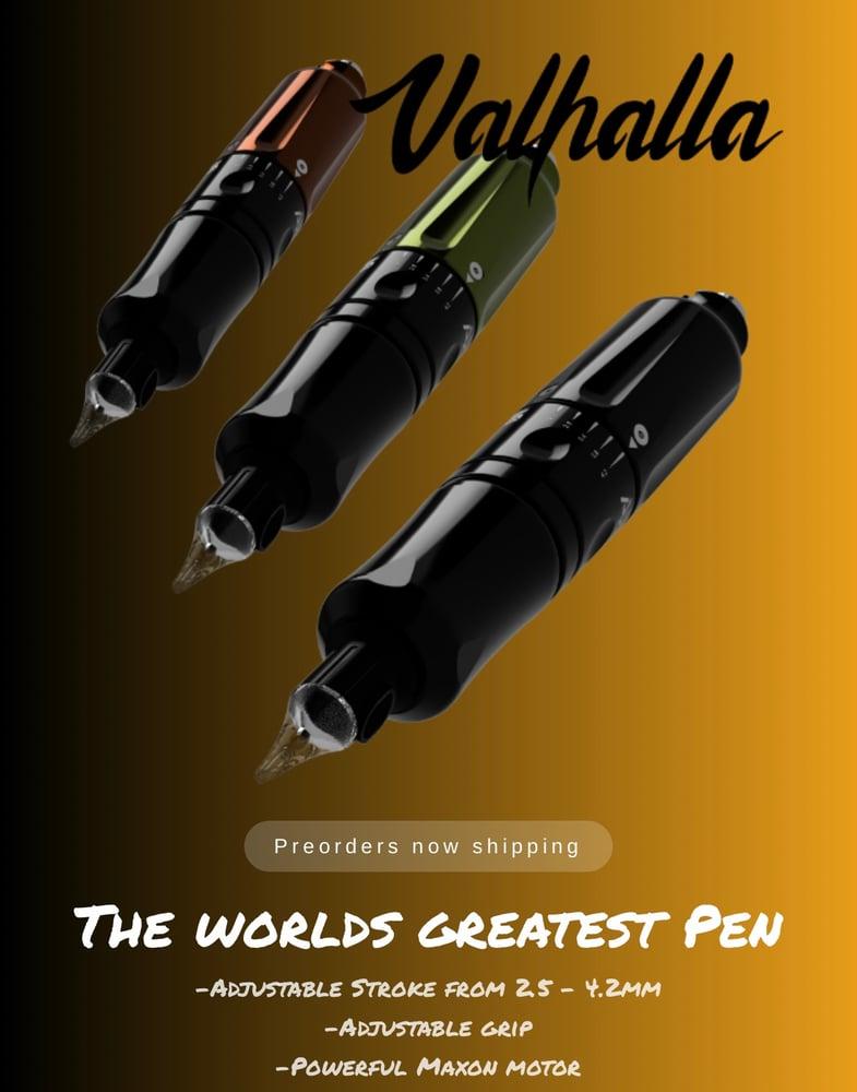 Image of Axys Valhalla pen tattoo machine black