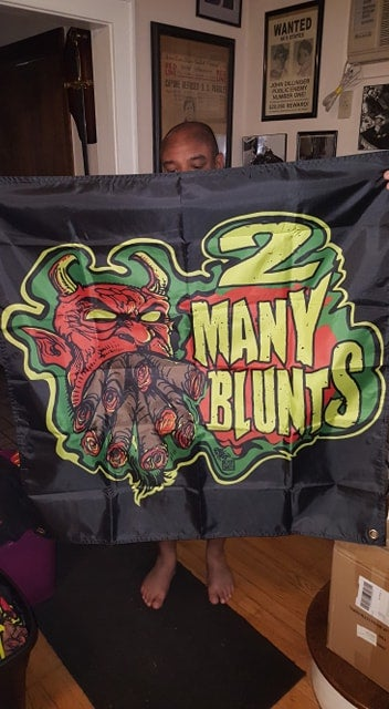 Image of 2 MANY BLUNTS FLAGS