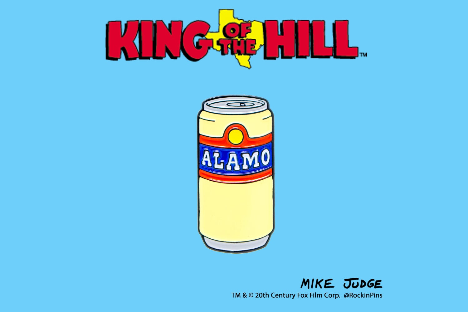 Image of King of the Hill - Alamo Beer Enamel Pin