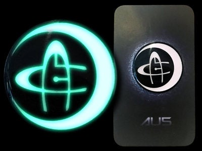 Image of Au5 Glow in the Dark Pin
