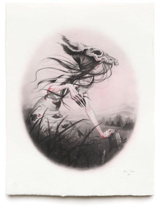 """Image of  #20/40, """"Yee Naaldlooshi (Skinwalker), intaglio print"""